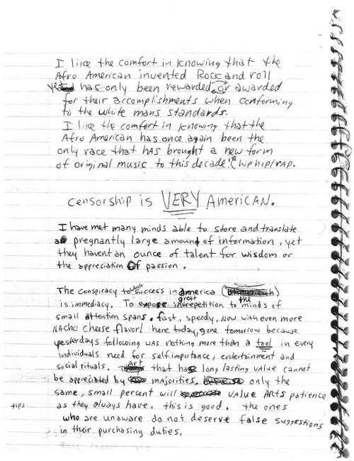 Kurt Cobain Letters & Journals
