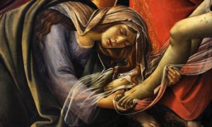 A detail showing Mary Magdalene in Boticellis Lamentation over the Dead Christ. Photograph: Alamy Photograph: Alamy Stock Photo