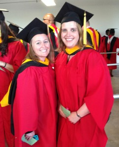 Lisa Blubaugh (right) was all smiles at MET Commencement.