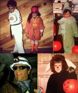 11. (Clockwise, from top left) A black belt, a clown, a lion, and a Chilean miner
