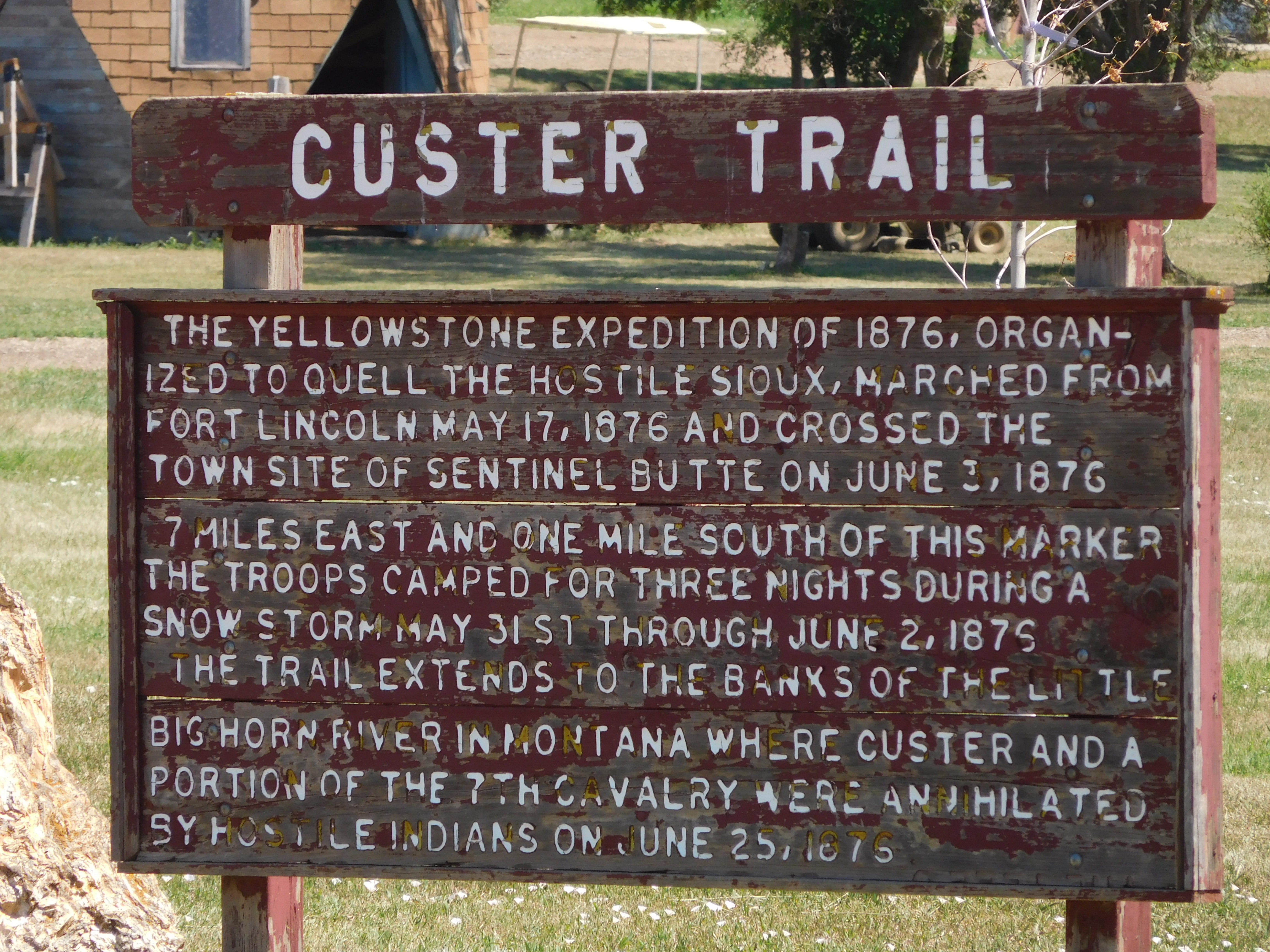 After following Lewis and Clark I am now on Custers Trail