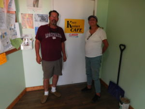 Michelle the owner of the Kozy Korner and her brother Jeff