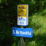 More mileage markers on the Lake Wobegon Trail