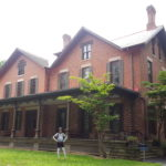 At President Rutherford Hayes home